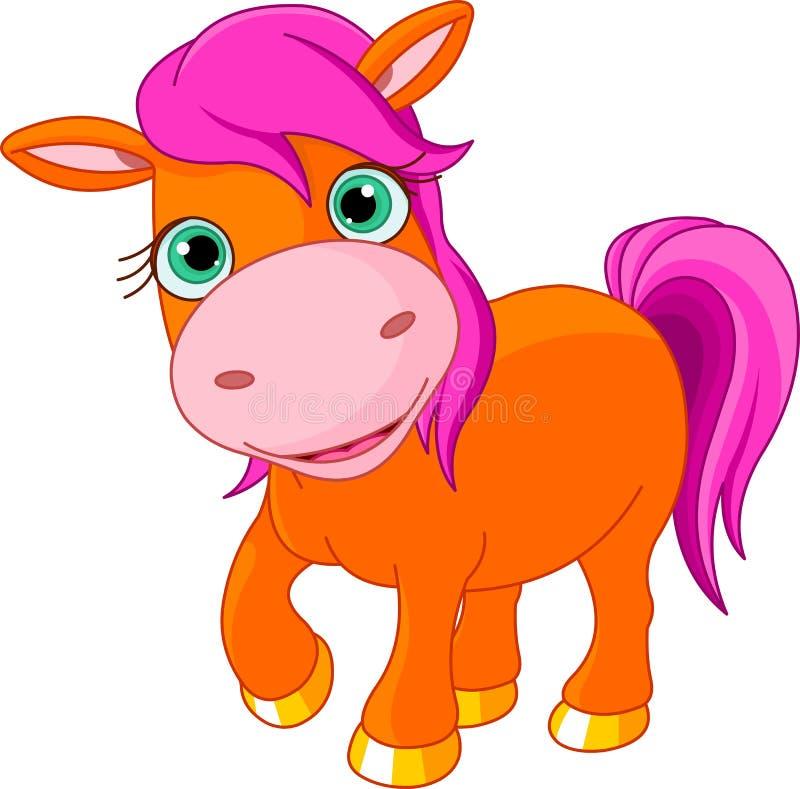 gullig liten ponny royaltyfri illustrationer