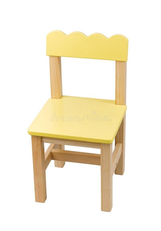 Gullig liten stol för barn arkivfoton