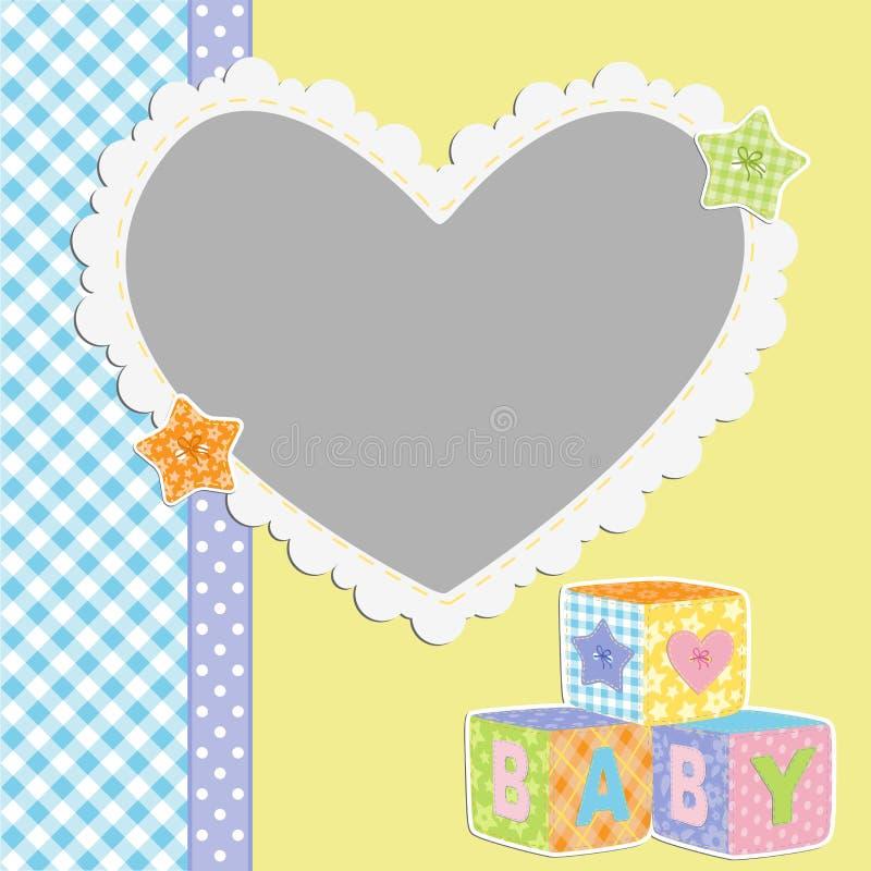 Download Gullig mall för babys kort vektor illustrationer. Illustration av hallåmaner - 27284418