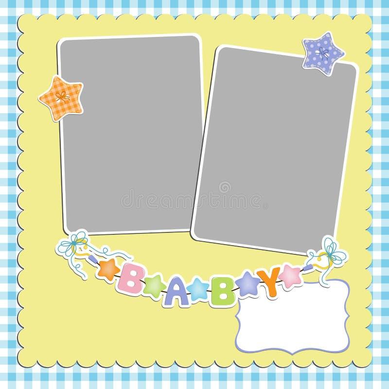 Download Gullig mall för babys kort vektor illustrationer. Illustration av design - 27284423