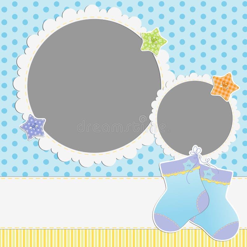 Download Gullig mall för babys kort vektor illustrationer. Illustration av dekor - 27284453