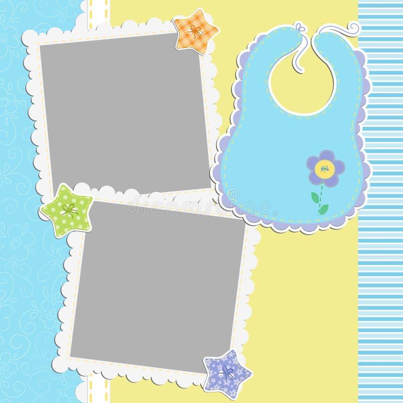 Download Gullig mall för babys kort vektor illustrationer. Illustration av ankomst - 27284615