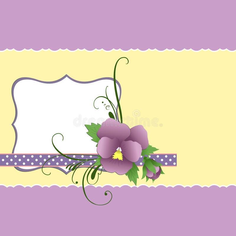 gullig mall för dagmammavykort s stock illustrationer