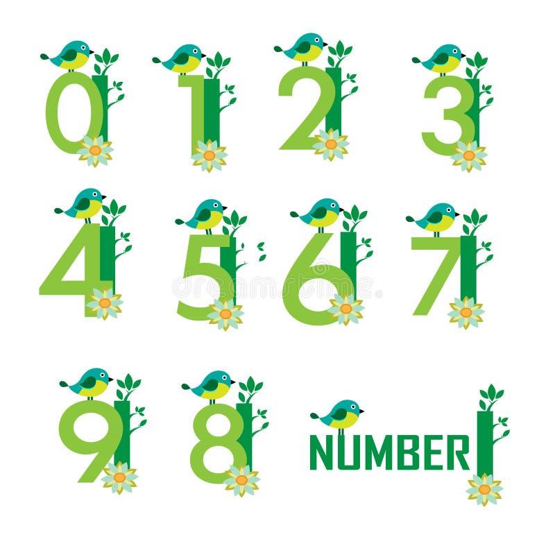 Gullig nummervektor vektor illustrationer