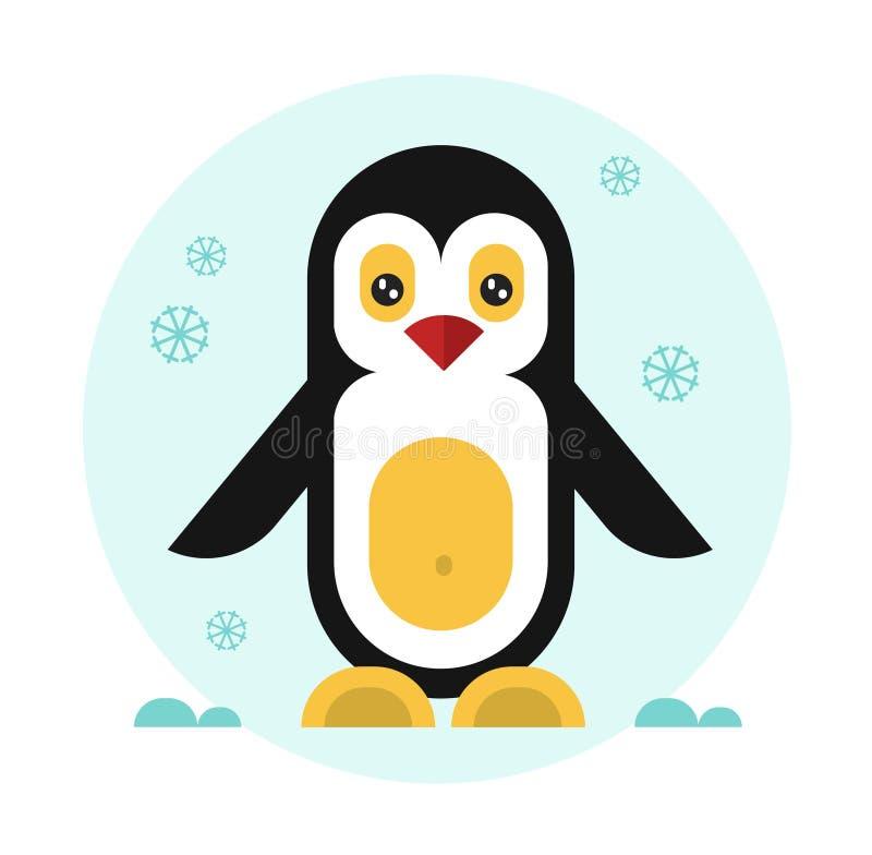 Gullig pingvinsymbol vektor illustrationer