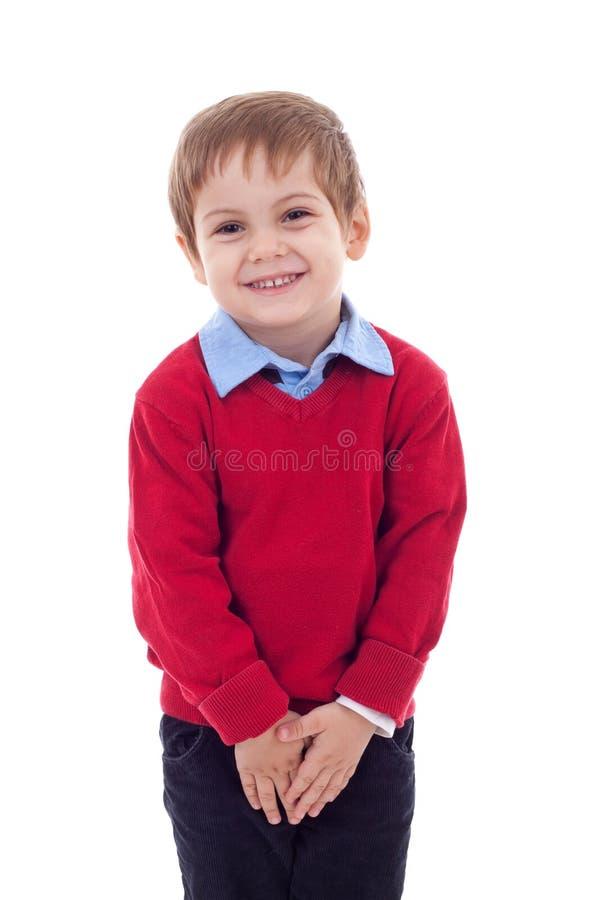 gullig pojke little som är blyg arkivfoton
