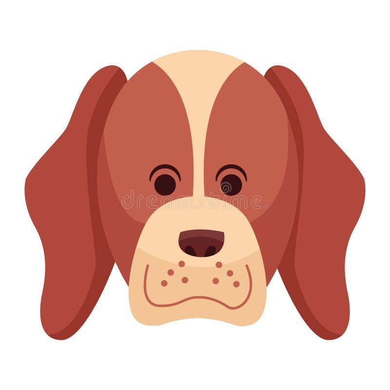 Gullig profil f?r hundsymbolstecknad film royaltyfri illustrationer