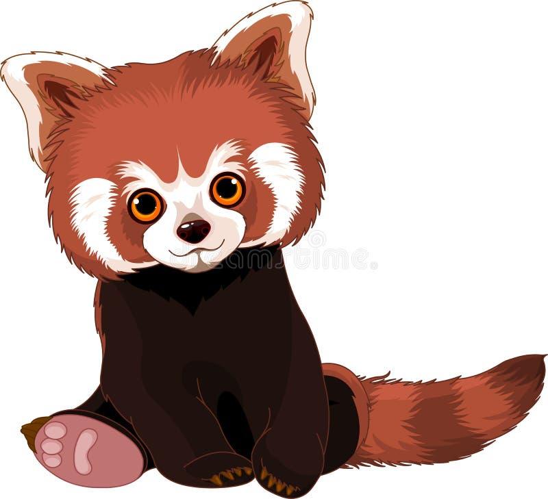 Gullig röd panda vektor illustrationer