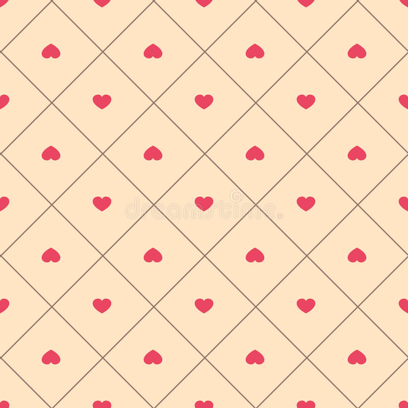 Gullig retro abstrakt sömlös modell Kan användas för tapeten, räkningspåfyllningar, webbsidabakgrund, yttersidatexturer Rosa färg stock illustrationer