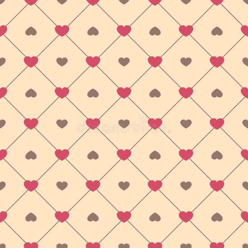 Gullig retro abstrakt sömlös modell Kan användas för tapeten, räkningspåfyllningar, webbsidabakgrund, yttersidatexturer Rosa färg vektor illustrationer