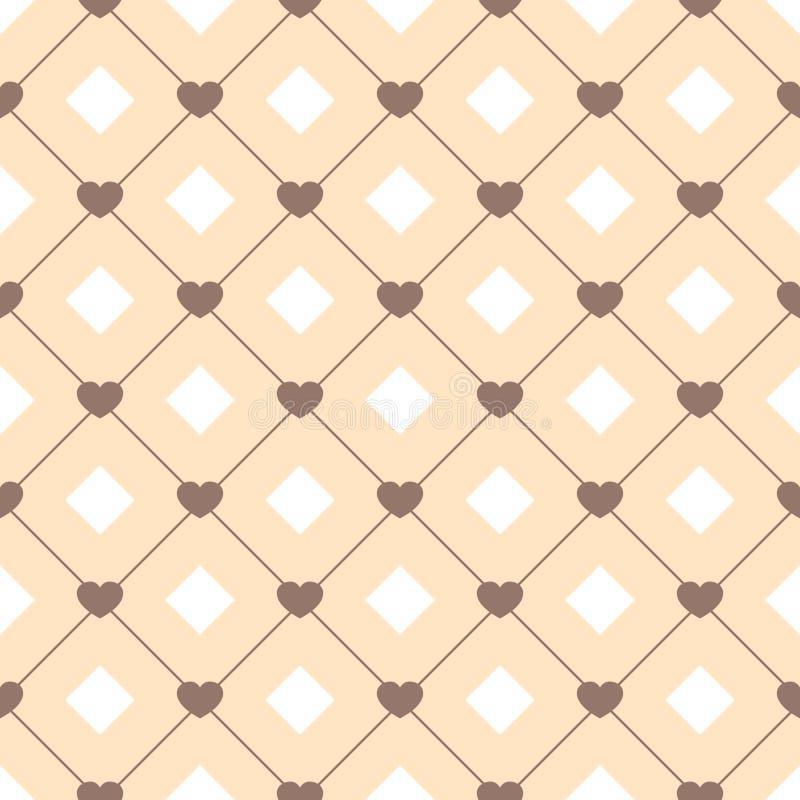 Gullig retro abstrakt sömlös modell Kan användas för tapeten, räkningspåfyllningar, webbsidabakgrund, yttersidatexturer Rosa färg royaltyfri illustrationer