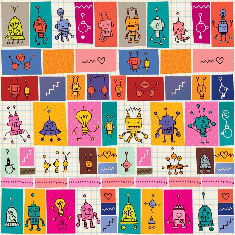 Gullig robotmodell royaltyfri illustrationer