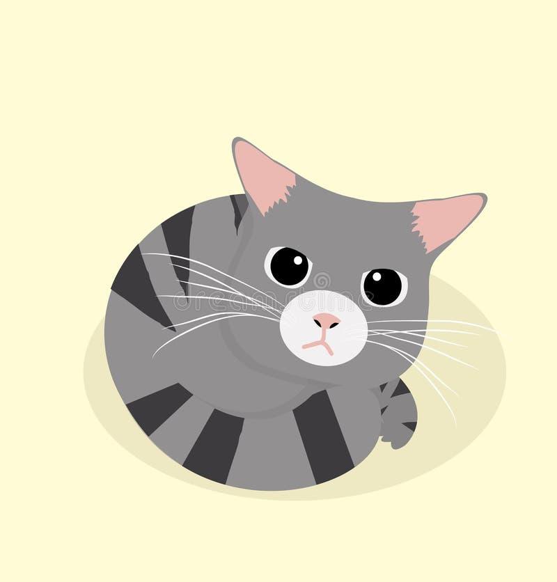 Gullig sömn för svart katt stock illustrationer