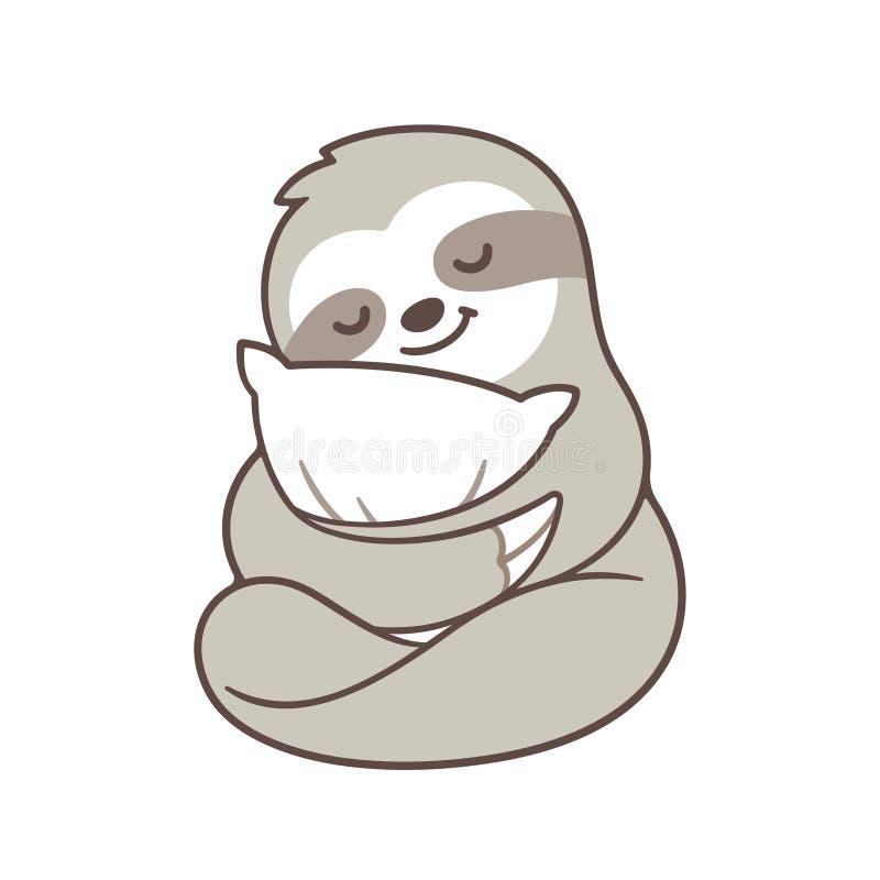 Gullig sömnig sengångare vektor illustrationer