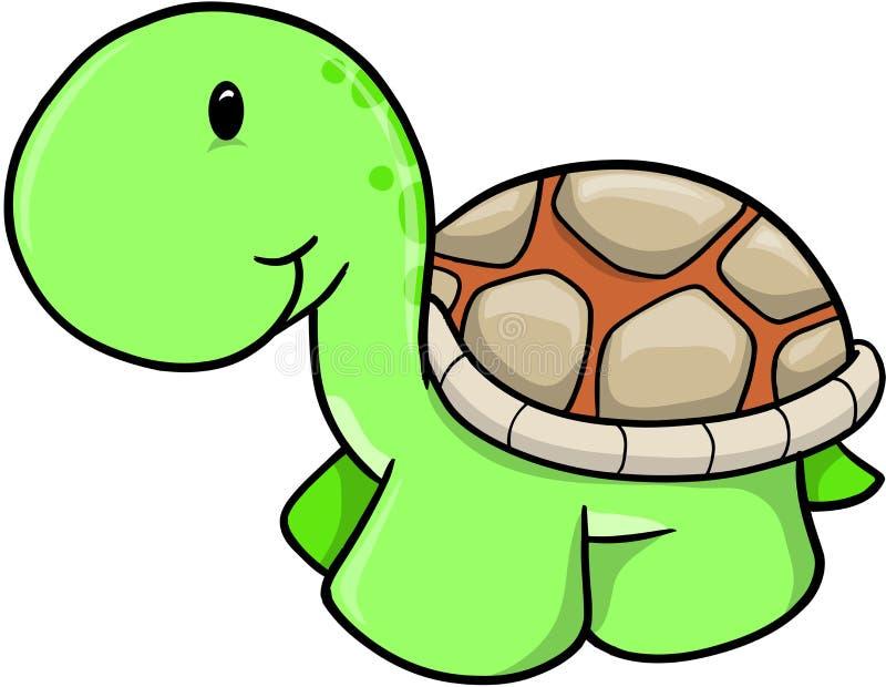 gullig safarisköldpaddavektor stock illustrationer