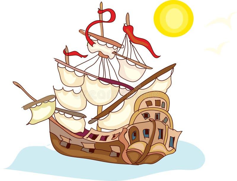 gullig ship royaltyfri illustrationer