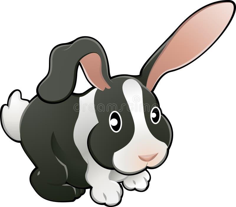 gullig sjuk älskvärd kaninvektor royaltyfri illustrationer