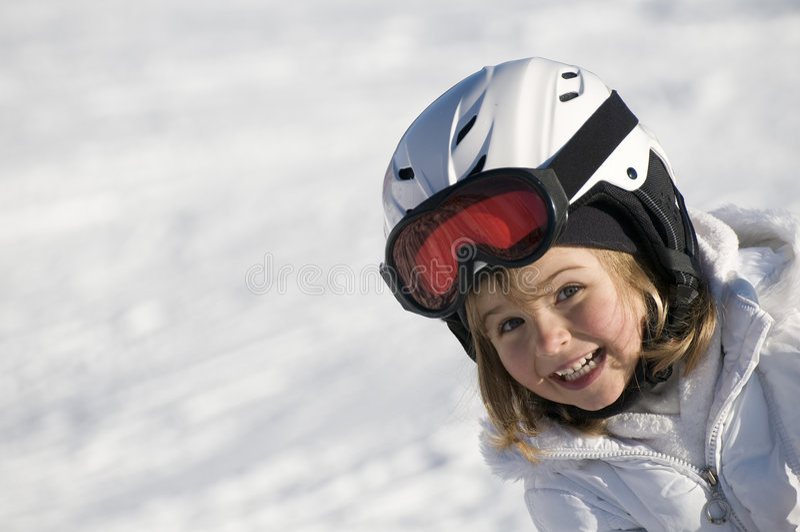 gullig skier royaltyfri bild