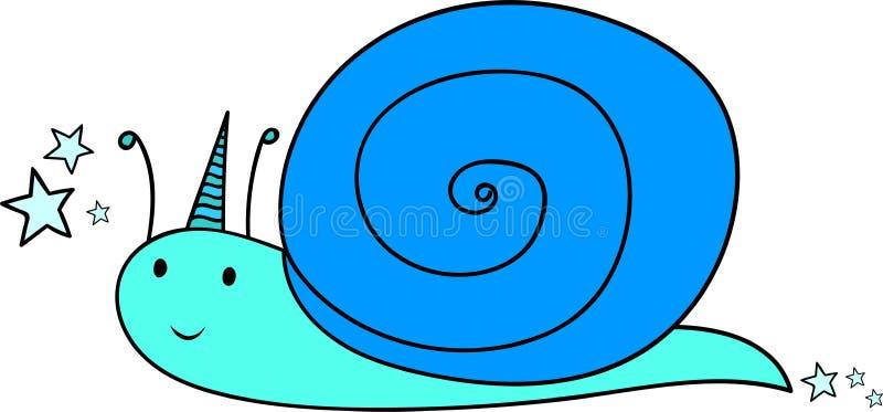 gullig snail huvudet för uppnosiga gulliga hundar för bakgrundstecknad filmteckenet isolerade det lyckliga leendewhite vektor för royaltyfri illustrationer