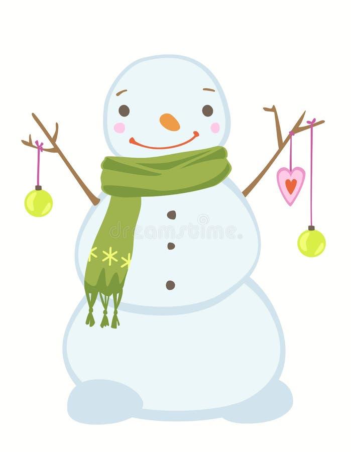 gullig snowman för jul royaltyfri illustrationer