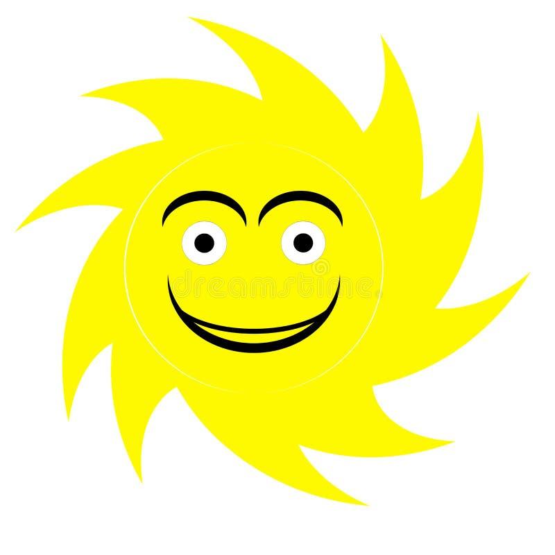 Gullig sollogo vektor illustrationer