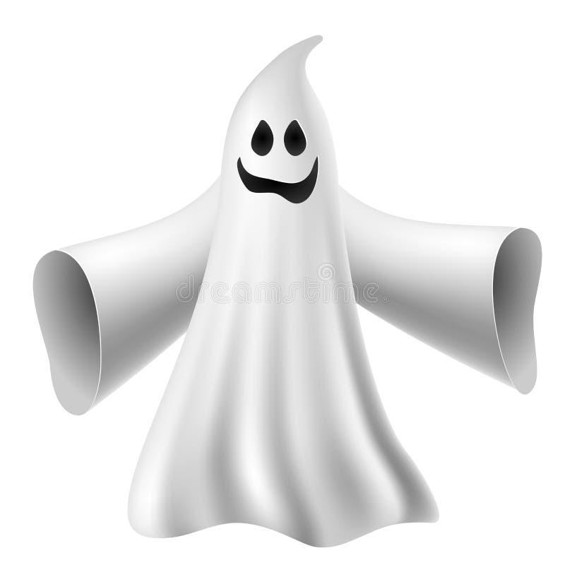 Gullig spöke stock illustrationer