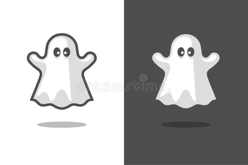 Gullig spökesymbol vektor illustrationer