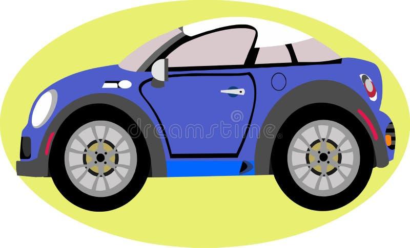 Gullig sportbil stock illustrationer