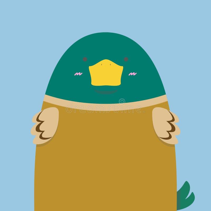 Gullig stor and för fettgräsplanhuvud vektor illustrationer