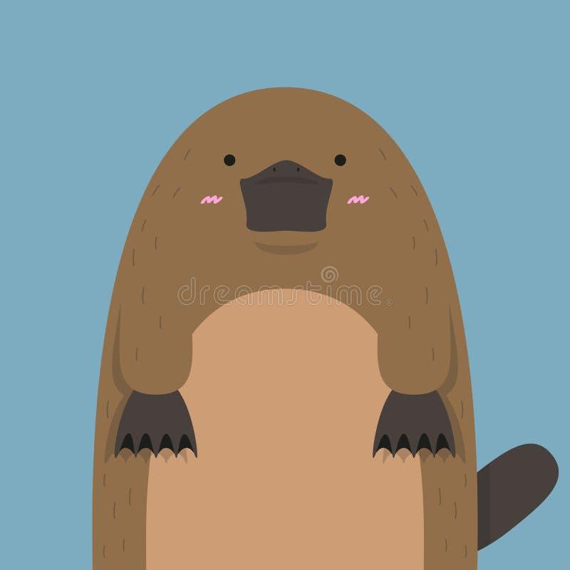 Download Gullig stor fet näbbdjur vektor illustrationer. Illustration av vitt - 78730769