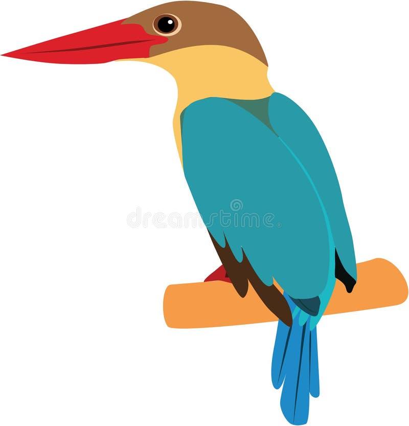 Gullig Stork-fakturerad kungsfiskarevektor royaltyfri fotografi