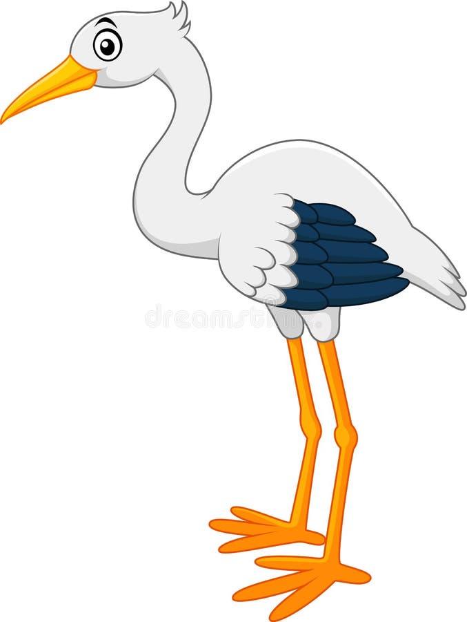 Gullig storktecknad film stock illustrationer