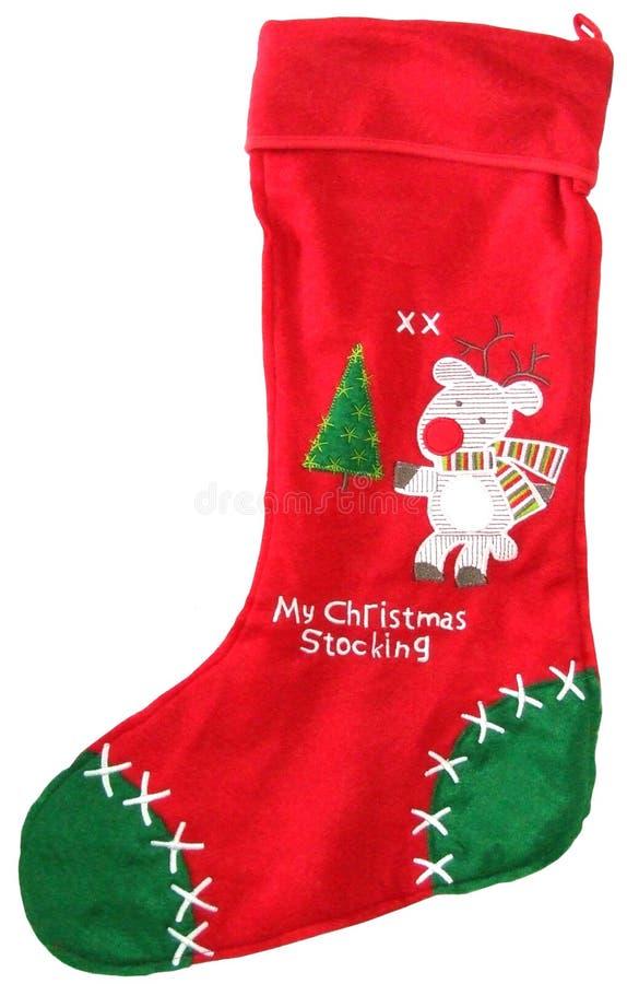 gullig strumpa för jul arkivfoton