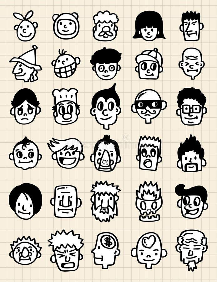 gullig symbol för tecknad film vektor illustrationer