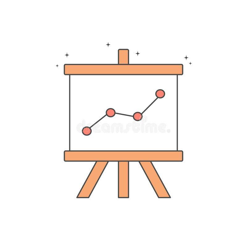 Gullig symbol för vektor för flipdiagram royaltyfri illustrationer