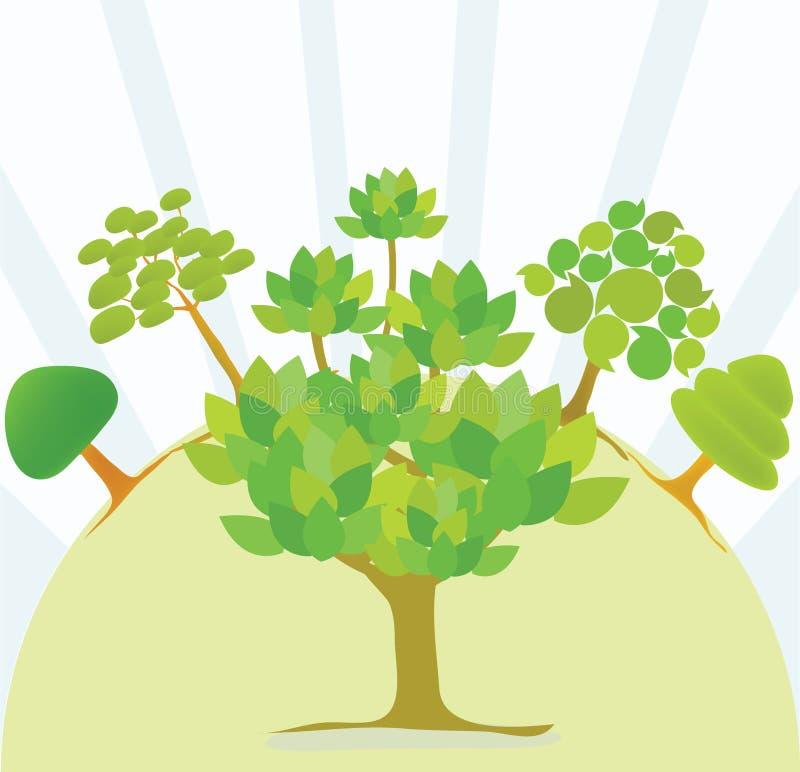 gullig tree royaltyfria bilder