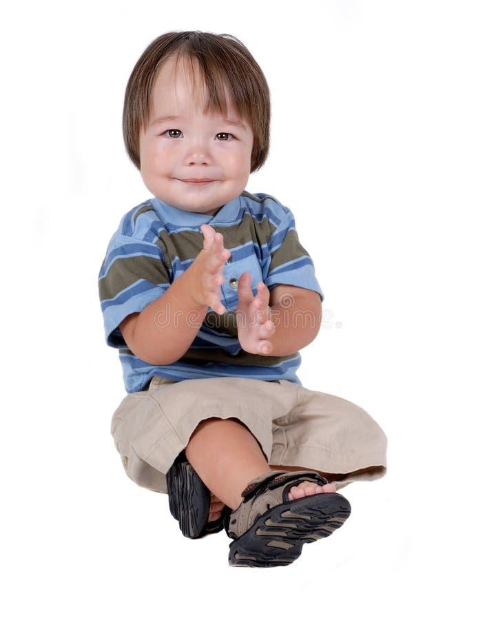 Gullig ung latinamerikansk pojke royaltyfri foto