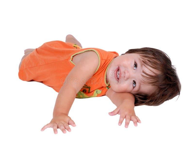 Gullig ung latinamerikansk pojke royaltyfri bild
