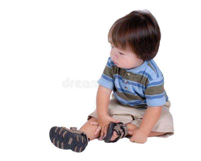 Gullig ung pojke royaltyfri foto