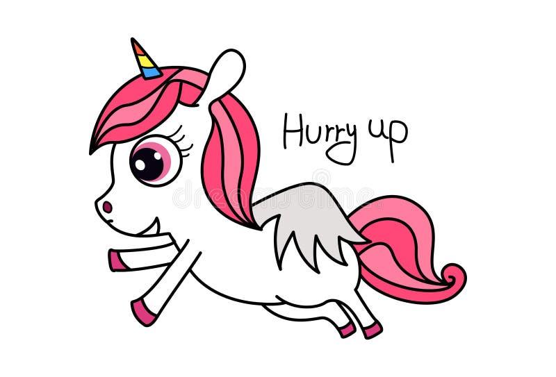 gullig unicorn stock illustrationer