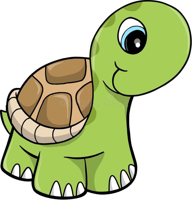 gullig vektor för illustrationsafarisköldpadda vektor illustrationer