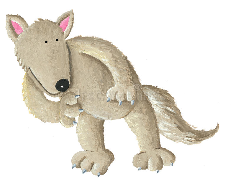 gullig wolf vektor illustrationer