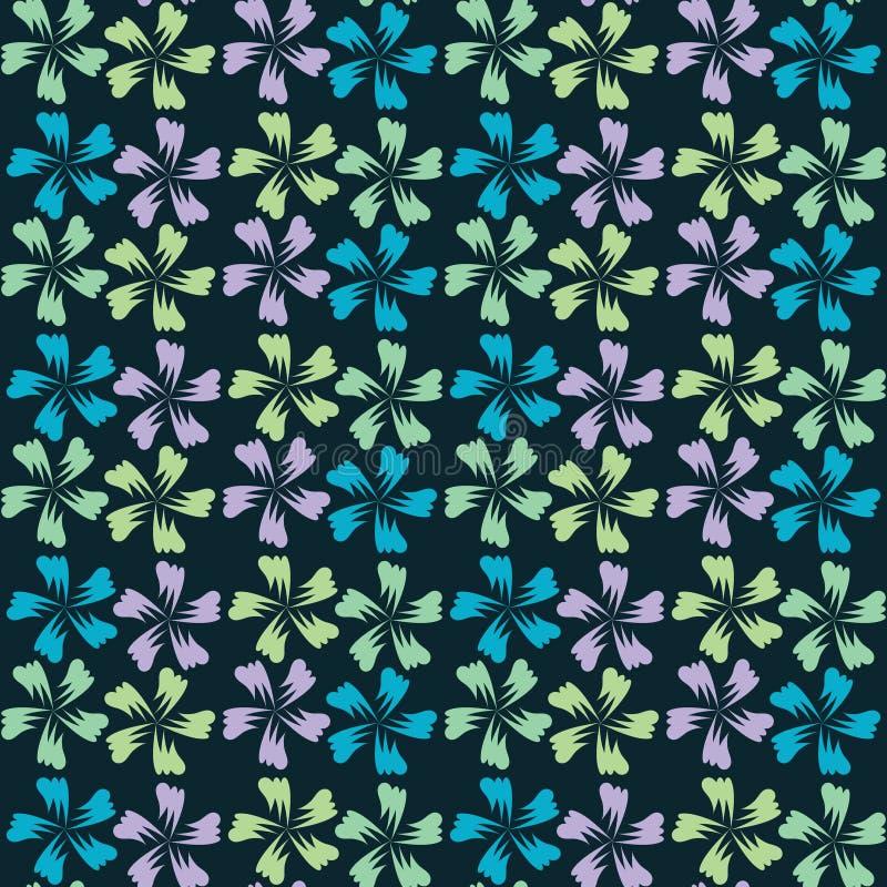 Gulliga abstrakt seamless mönstrar den blom- bakgrundsdesignen använder idealt den din vektorn tryck stock illustrationer