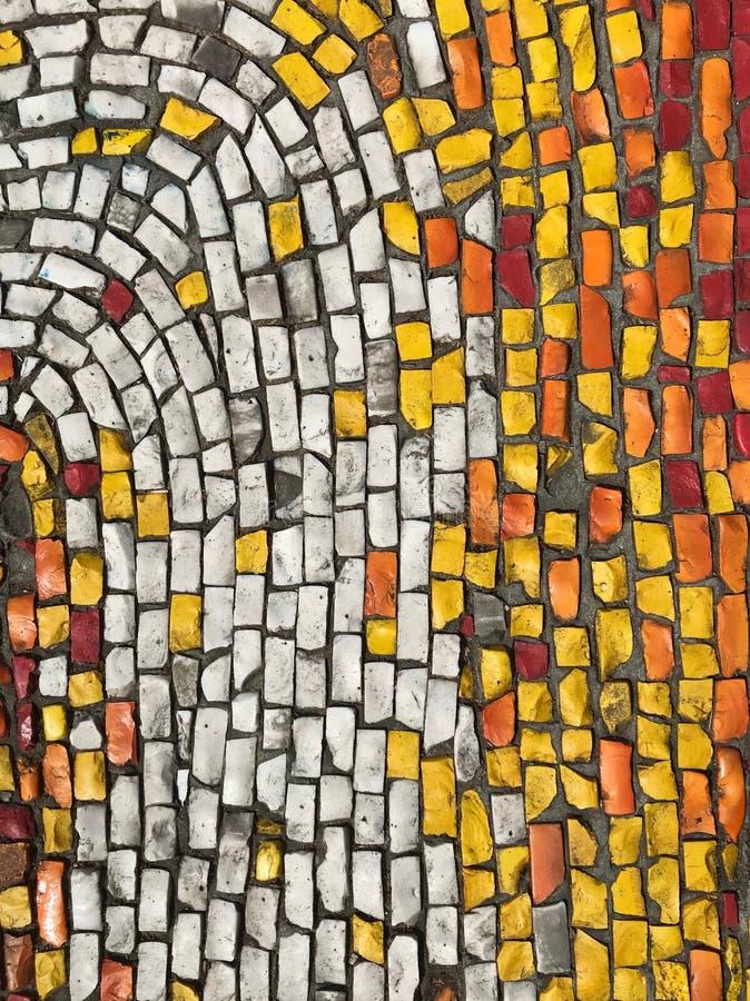 Gulliga abstrakta mosaiktexturer arkivfoto