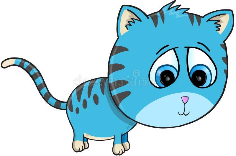 Gulliga Cat Vector Illustration Art royaltyfri illustrationer