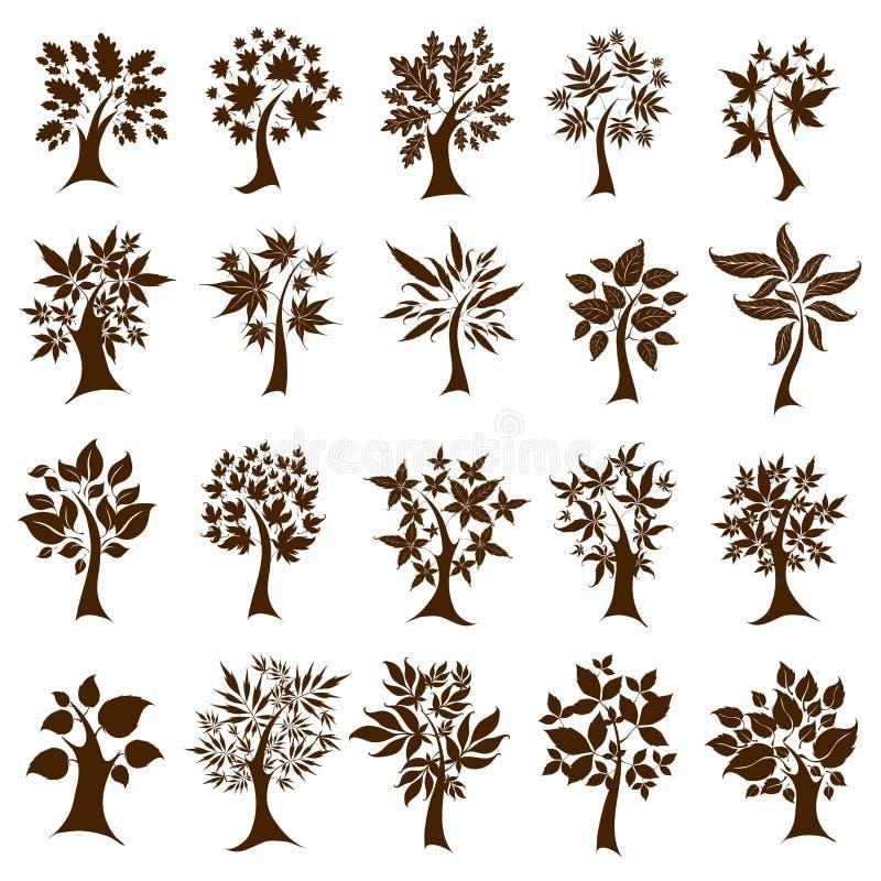 gulliga dekorativa thanksgivftrees tjugo