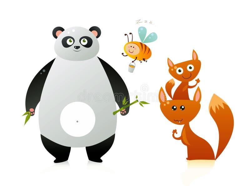gulliga djur stock illustrationer