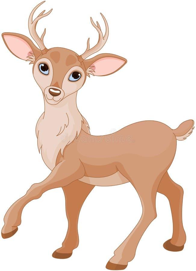gulliga hjortar stock illustrationer