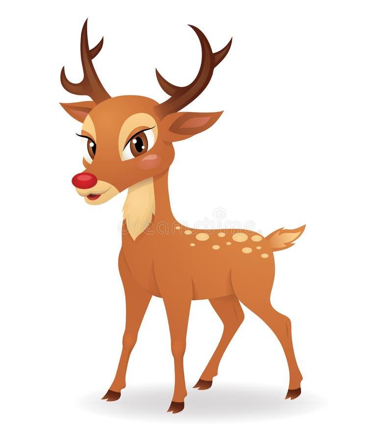 Gulliga hjortar. vektor illustrationer