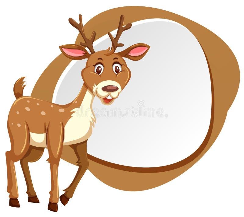 Gulliga hjortar med färgstänkramen vektor illustrationer